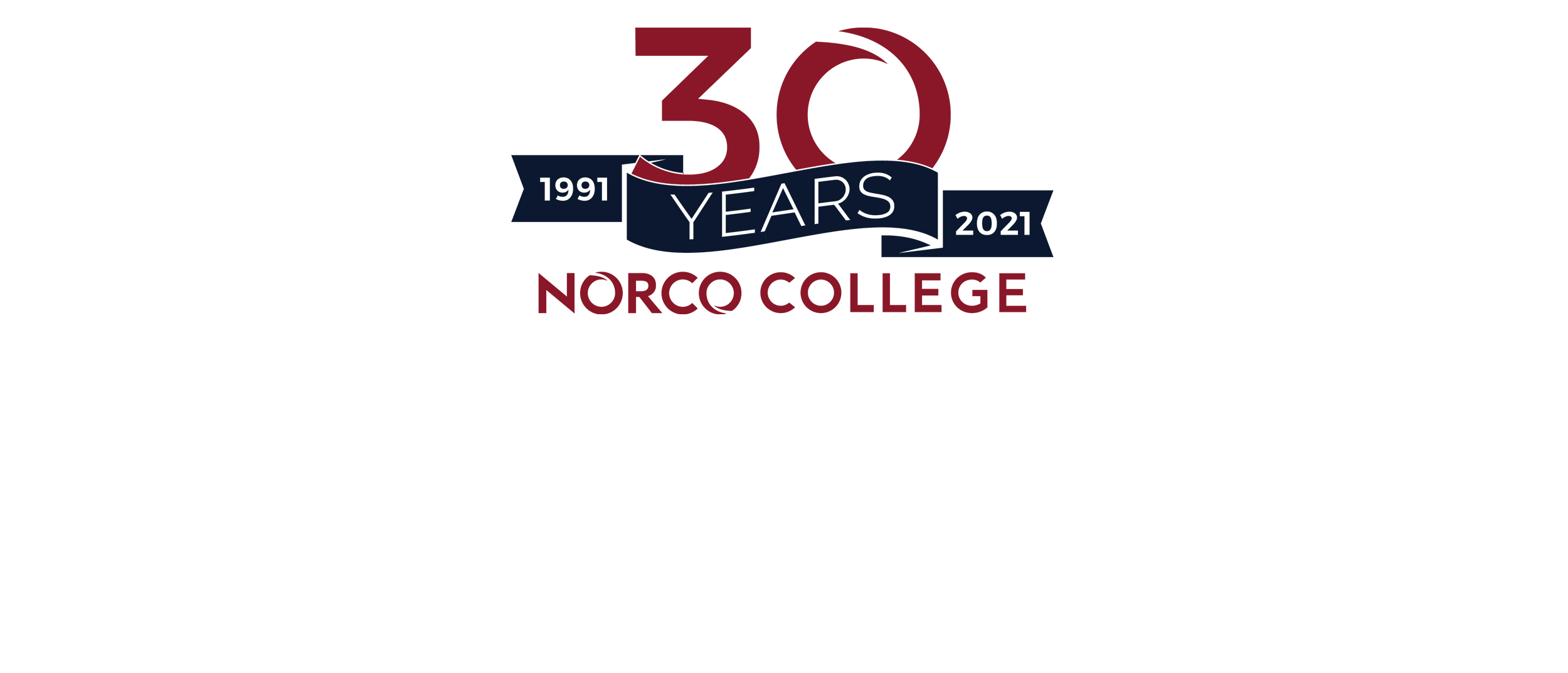 Norco College 30th Anniversary banner