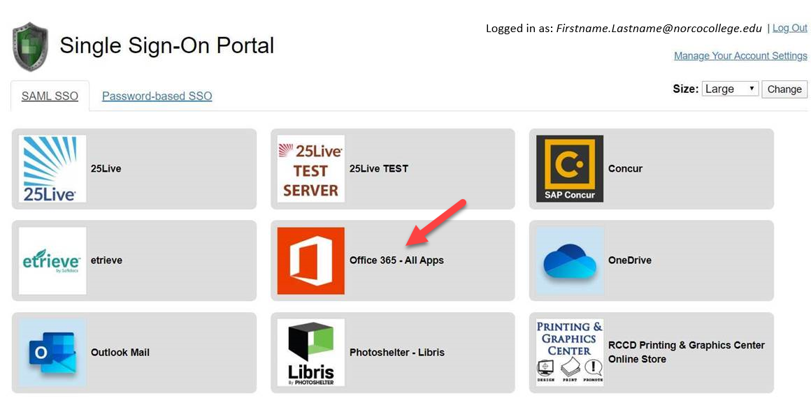 Single Sign-On Portal - Office 365 - All Apps