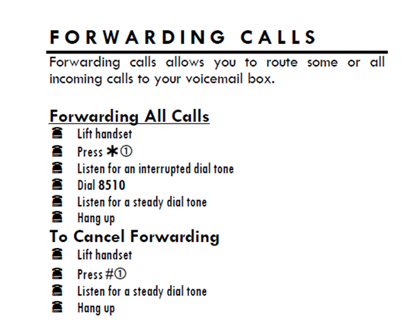 Forwarding Calls Quick Reference Guide