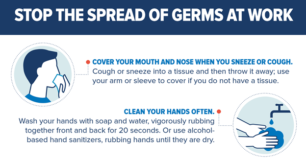 Stop the Spread of Germs at Work flyer 1
