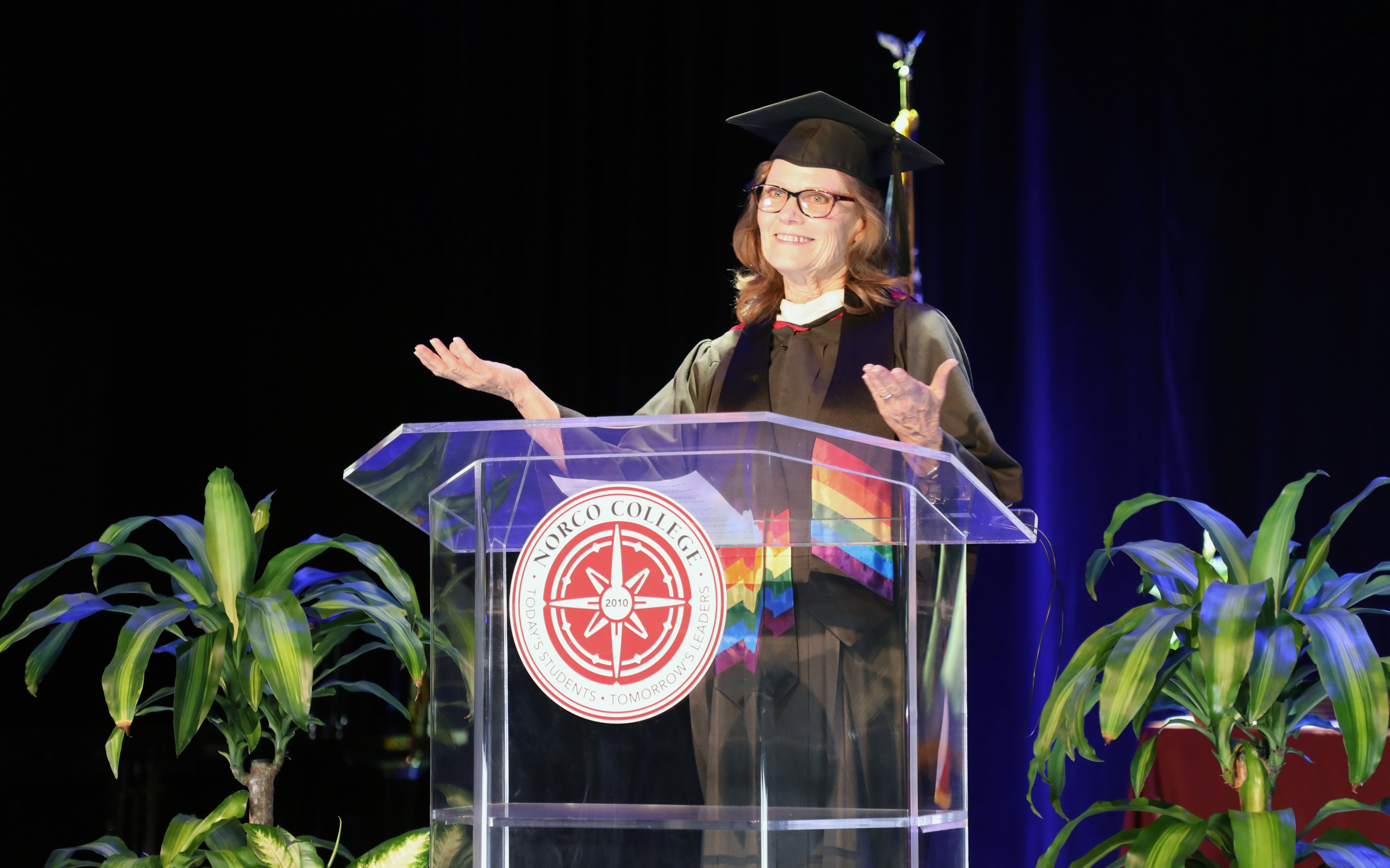 Professor Kristine Anderson at Commencement
